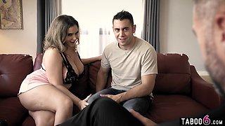 Husband shares his huge boobs wife Natasha Nice with his 21yo student
