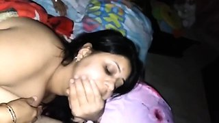 sexy indian wife passionate kissing with husband