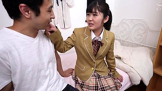 Lovely Oriental schoolgirl learns a lesson in hardcore sex
