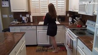Mom In Kitchen With Son