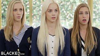 Preppy Girl Threesome Get Three Bbcs