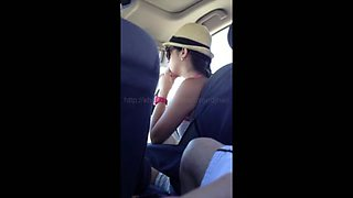 Flashing Friend In Moms Car 1