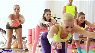 FitnessRooms Teens fuck gym teachers big cock