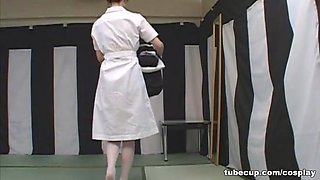Cosplay Porn: Asians Nurses Cosplay Japanese MILF Nurse Fucked Doctors Office part 2