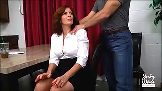 Loving mom andi james is forced to fuck her stepson