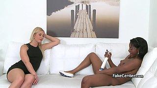 Ebony gal fucking hot casting agent
