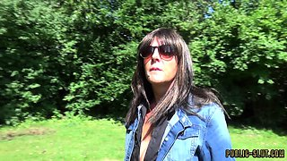 Extreme public flashing and public sex with hot wife Marion