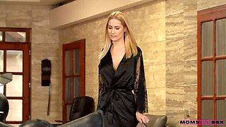 Stepson Catches EXQUISITE Blonde MILF Ladywanking
